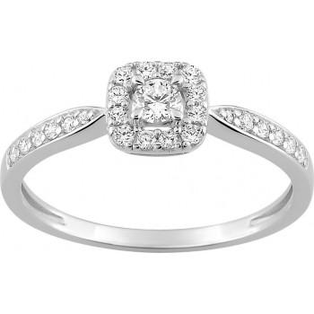 Bague de fiançailles  LIBRE or blanc 750 /°° diamants 0,29 carat
