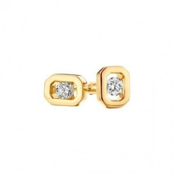 Boucles d'oreilles RAFALIA or rose 750/°° diamants 0.12 carat