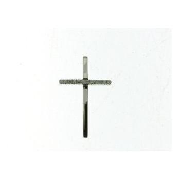 Croix NANFRO or blanc 750 /°° diamants 0.035 carat