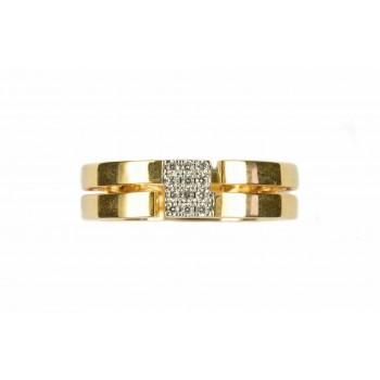 Bague ALEXANE  or jaune 750/°° diamants 0.08 carat