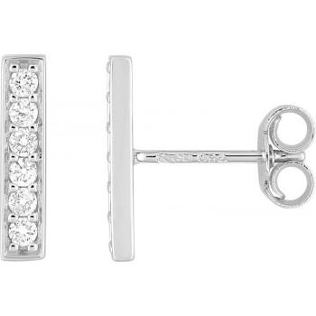 Boucles d'oreilles SONNATE or blanc 750 /°° diamants 0,15 carat