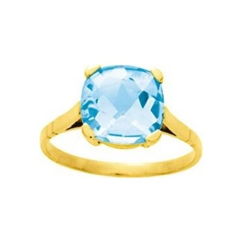 Bague FARINELLA or jaune 750 /°° topaze bleue 3.50 carats