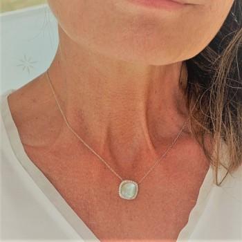 Collier ONE MORE  diamants prasiolite 7.30 carats collection PANTELLERIA ref 053654/YA/10