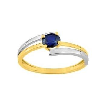 Bague MIKADO or jaune 750/°° saphir bleu