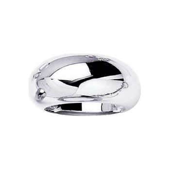 Bague ATLAS or blanc 750 /°° modèle boule