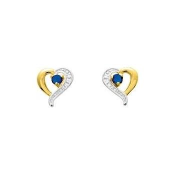 Boucles d'oreilles SHANNON or jaune 750 /°° saphirs bleus