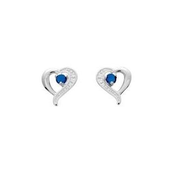 Boucles d'oreilles SHANNON or blanc 750 /°° saphirs bleus