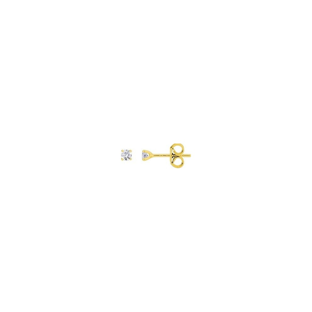 Boucles d'oreilles ARCADE or jaune 750 /°° diamants 0,16 carat