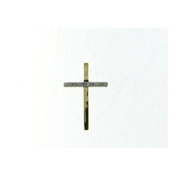 Croix NANFRO or jaune 750 /°° diamants 0.03 carat