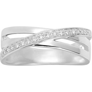 Bague DORINE or blanc 750 /°° diamants 0,07 carat