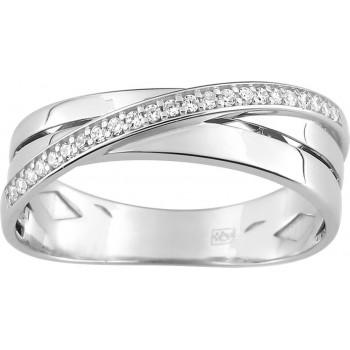 Bague LESLIE or blanc 750 /°° diamants 0,12 carat