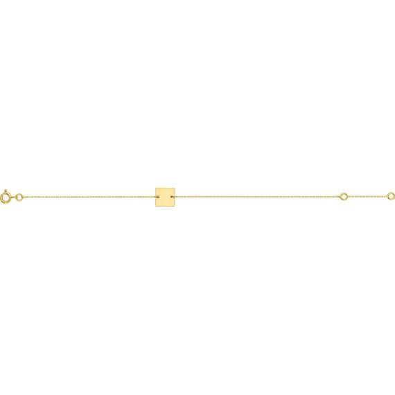 Bracelet EDGARD or jaune 750 /°° plaque carrée