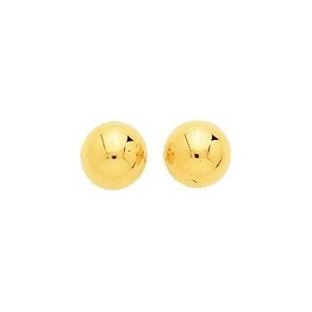 Boucles d'oreilles FLORA or jaune 750/°° demi-boules diamètre 7 mm