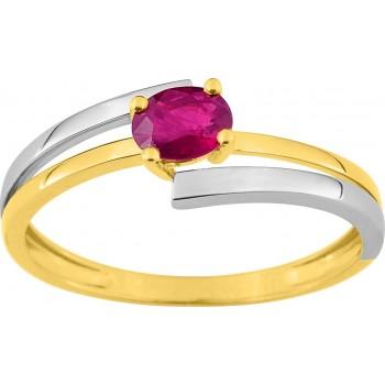 Bague MIKADO or jaune 750 /°° rubis 0.48 carat