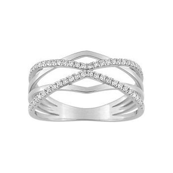Bague TALYA or blanc 750 /°° diamants 0,20 carat