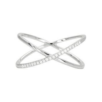 Bague SUNSET or blanc 750 /°° diamants 0,07 carat