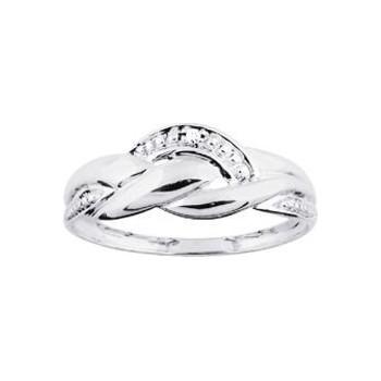 Bague PYREOS or blanc 750 /°° diamants 0,01 carat