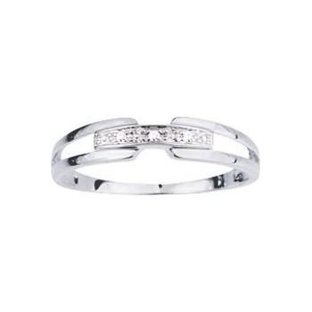 Bague CORFOU or blanc 750 /°° diamants 0.01 carat