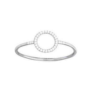Bague UGELLO or blanc 750 /°° diamants 0,06 carat