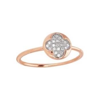 Bague ROCK or rose 750 /°° diamants 0,09 carat