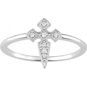 Bague COLWEEN or blanc 750 /°° diamants 0,04 carat