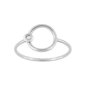 Bague CAPRI G or blanc 750 /°° diamants 0,01 carat