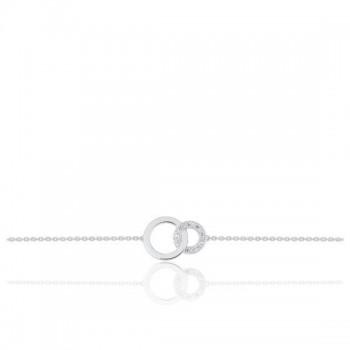 Bracelet THALASSA or blanc 750 /°° diamants 0.032 carat