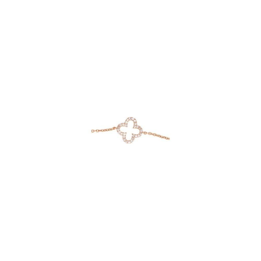 Bracelet STELLA or rose 750 /°° diamants 0,09 carat
