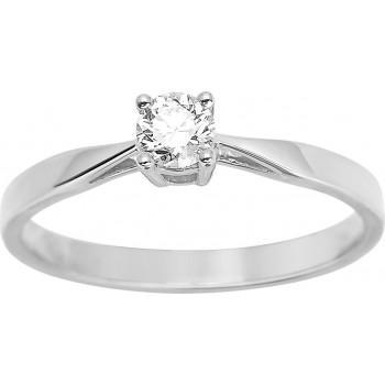 Bague de fiançailles CRIOS or blanc 750 /°° diamant 0,23 carat