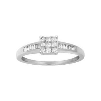 Bague EMBRUN or blanc 750 /°° diamants 0,33 carat