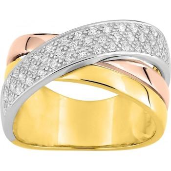 Bague CUESAS 3 ors 750 /°° diamants 0,34 carat