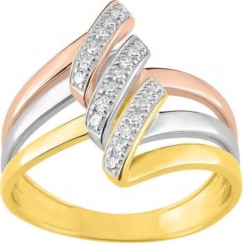 Bague FORTUNE 3 ors 750 /°° diamants 0,16 carat