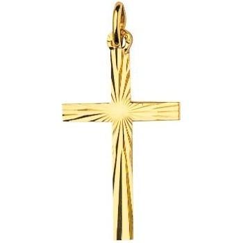 Croix LUMIERE or jaune 750 /°° dimensions 29 mm x 15 mm