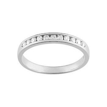 Demi-alliance RAIL or blanc 750 /°° diamants 0,20 carat