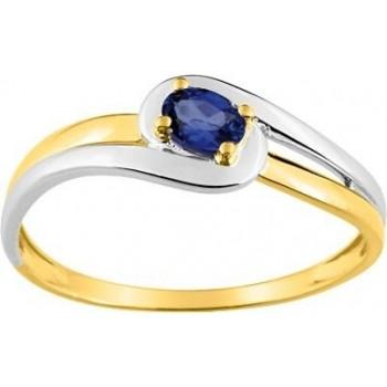 Bague TATOO or jaune 750 /°° saphir bleu 0.226 carat