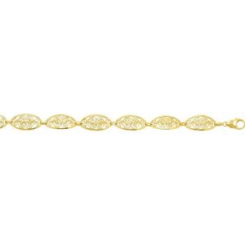 Bracelet CELESTINE or jaune 750 /°° mailles filigrane