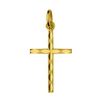 Croix ECLAT or jaune 750 /°° dimensions 24 mm x 12 mm