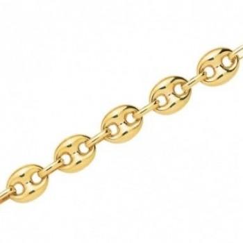 Bracelet ENVOL or jaune 750 /°° mailles grains de café creuses largeur 8 mm