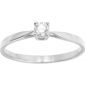 Bague de fiançailles CRIOS or blanc 750 /°° diamant 0,14 carat