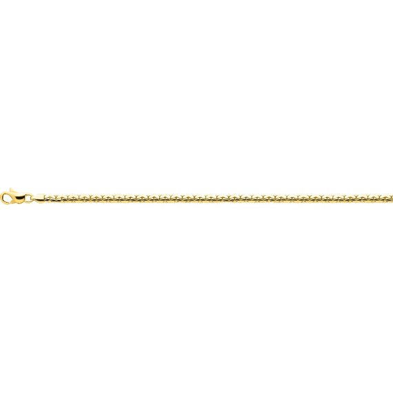 Bracelet ISOLA or jaune 750 /°° mailles haricot largeur 3 mm