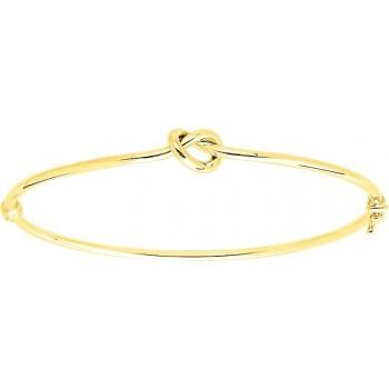 Bracelet NOEUD  jonc motif noeud or jaune 750 /°°