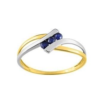 Bague saphirs LUCIOLE or jaune 750/°° saphirs bleus