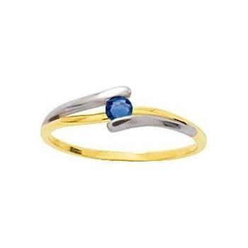 Bague MARTHA or jaune 750 /°° saphir bleu
