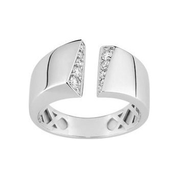 Bague MAYLIS or blanc 750 /°° diamants 0,22 carat