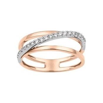 Bague CAGNES or rose or blanc 750 /°° diamants 0,10 carat
