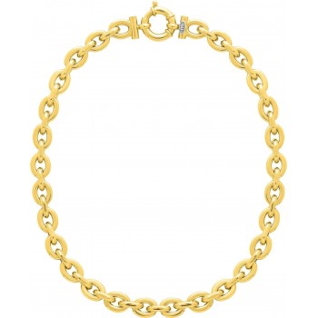 Collier ANAELLE or jaune 750 /°° mailles ovales