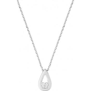 Collier KAILIN or blanc 750 /°° diamant 0,08 carat