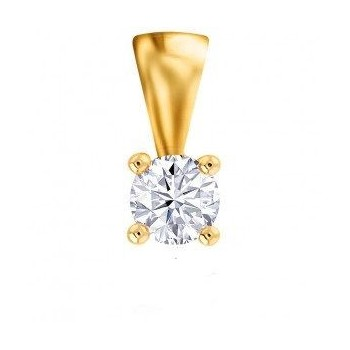 Pendentit 4 GRIFFES or jaune 750 /°° diamant 0,23 carat