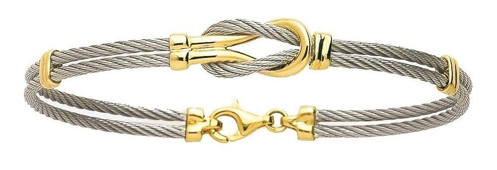 bracelet acier et or 18K homme