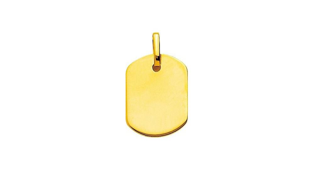 Pendentif Jason or jaune 750, 20x15mm